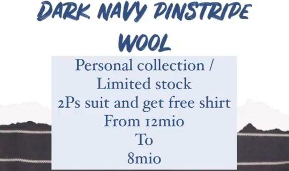 """""""FLASH SALE"""" Suit Package Dark Navy Pinstripe Wool Suits"""