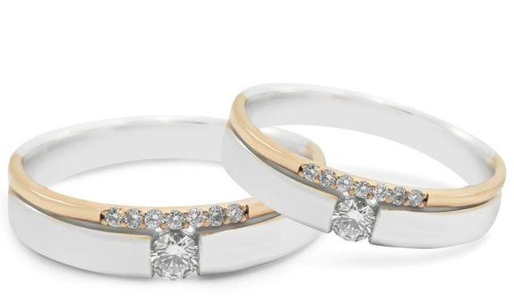 Cincin Kawin Berlian Cincin Emas Cincin Paladium WR0282 V&Co Jewellery