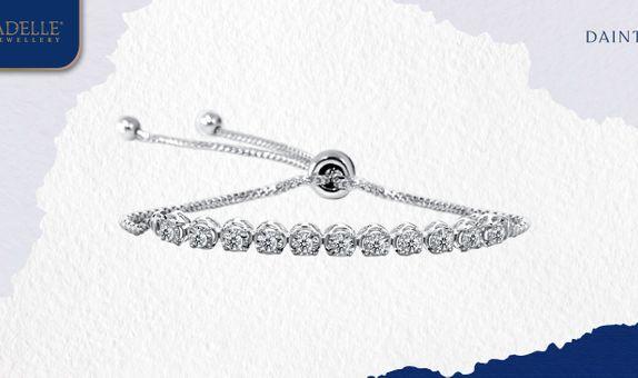 Gelang Berlian Adelle Jewellery - Luxury Listring Diamond Bracelet - W