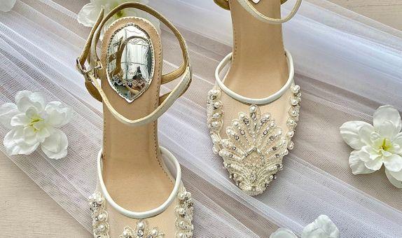 Reginy White Wedding Shoes Women Stiletto Heels 9cm