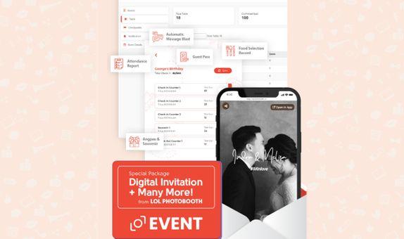 LOL Event: E-invitation & Guest Management (LIVE 2 cam)