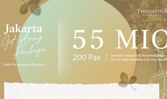 JAKARTA GET AWAY PACKAGE UP TO 200 PAX