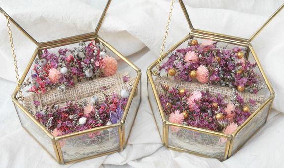 Dried Flowers Ring Bearer