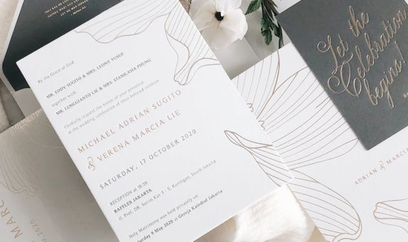 NEW NORMAL- 30 PCS LETTERPRESS WEDDING INVITATION