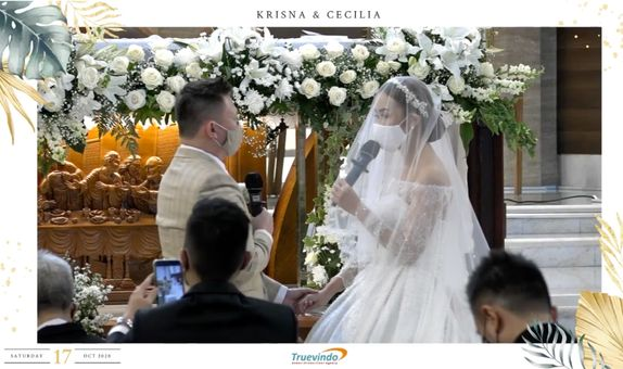Live Streaming 1 Camera - Virtual Online Wedding with Custom Frame