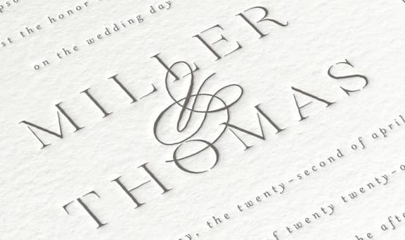 Letterpress Fine Invitation
