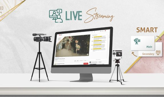 1 Session SMART Live Streaming 1+1 Cam for Matrimony OR Reception