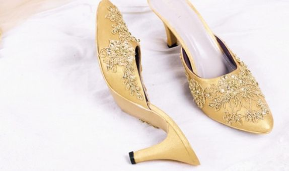 Wedding Shoes Selop Brukat