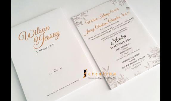 Paket 50pcs Simple Wedding Invitation 9