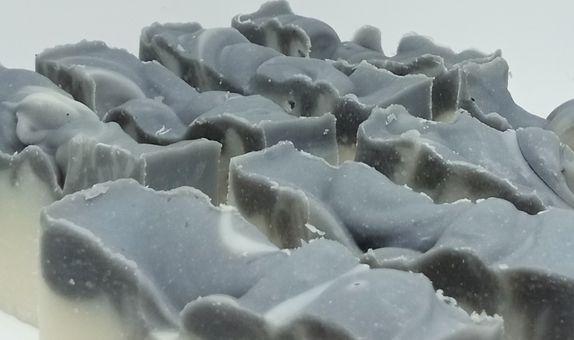 Charcoal bubble soap