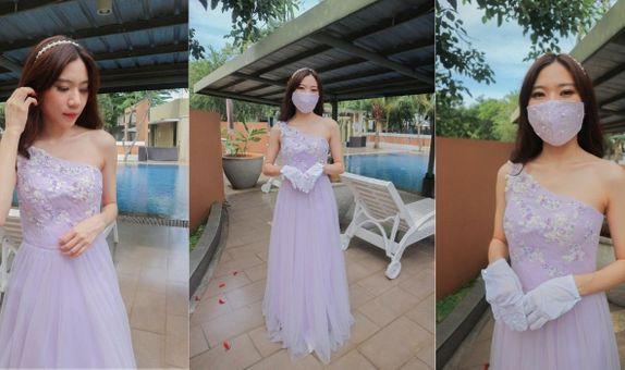 Liliac One Shoulder Gown Rent