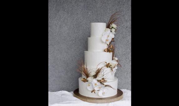 5 Tiered Wedding Cake A