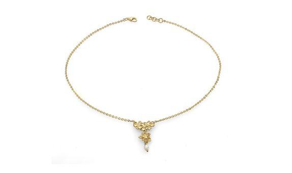 Flora Nirwana Cascade Necklace Gold Dip