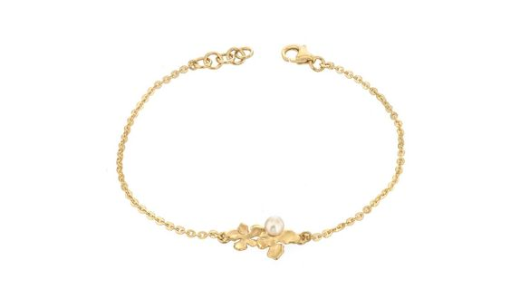 Flora Nirwana Bracelet with Pearl Gold Dip