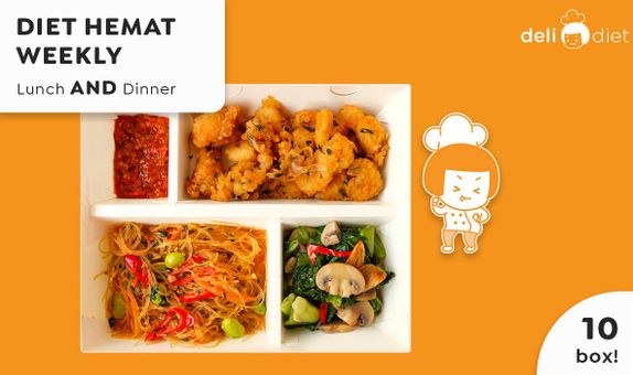 DeliDiet Paket WEEKLY Lunch AND Dinner (10 box-5 days)