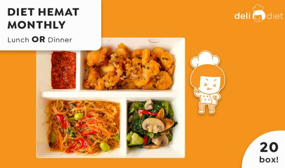 DeliDiet Paket MONTHLY Lunch OR Dinner (20 box-20 days)