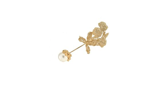 Ubud Lotus Long Pin Gold Dip