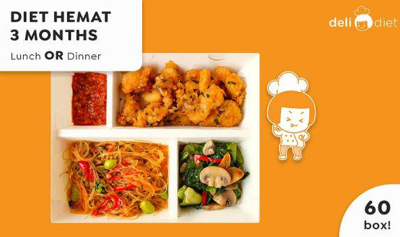 DeliDiet Paket 3 Bulan Lunch AND Dinner (120box-60days)