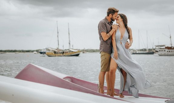 Prewedding Classic Photo Session On A Sailing Yacht - Cruising Package