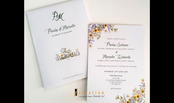 Paket 50pcs Wedding Invitation Floral