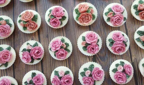 Flower cupcake soap