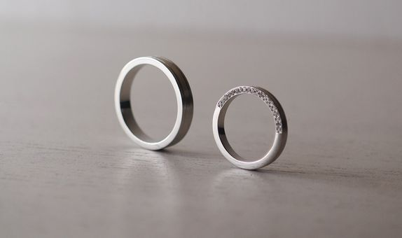 lock to custom wedding bands/ engagement rings
