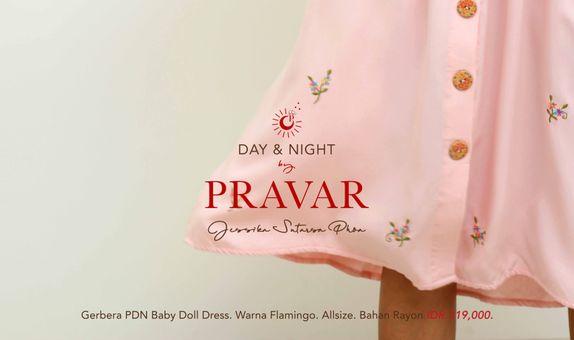 GERBERA PRAVAR DAY & NIGHT BABY DOLL DRESS.