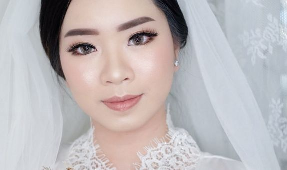 Wedding Makeup Hairdo for Holy Matrimony/Reception (No Retouch)