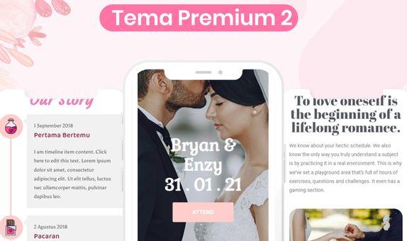 Undangan Pernikahan Digital Website (Premium)