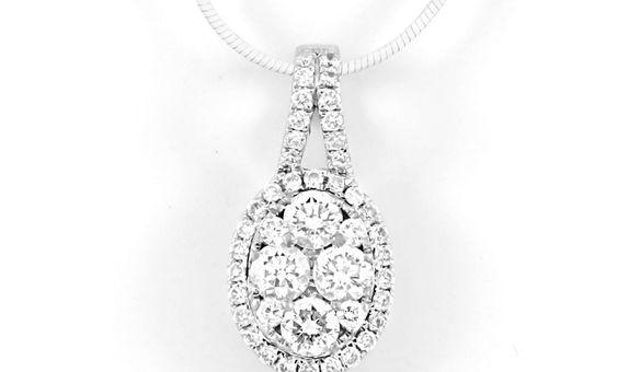 Liontin Emas Berlian Wanita DP000300 V&Co Jewellery