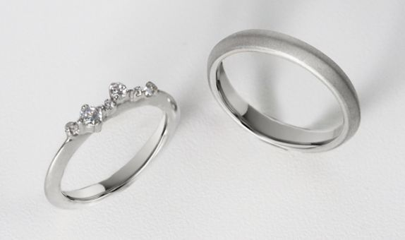 Meadow - Wedding Ring Set (White)