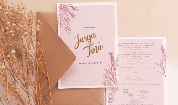 Intimate Wedding Invitation Kraft Envelope