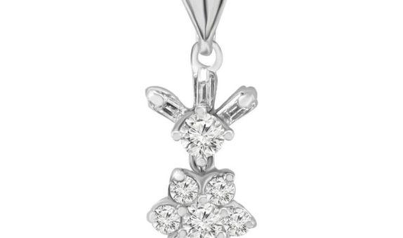 Liontin Emas Berlian Wanita DP000226 V&Co Jewellery