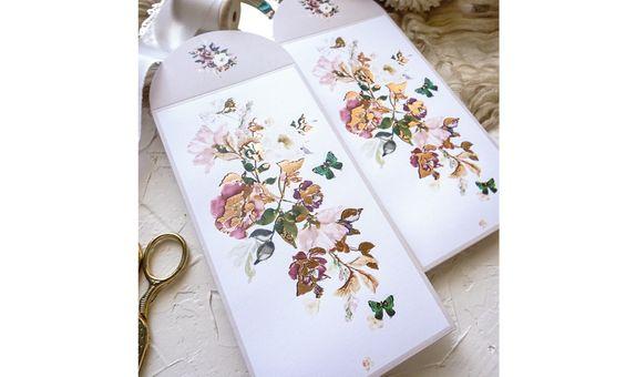 Angpao/Hongbao Premium Beige Flowers