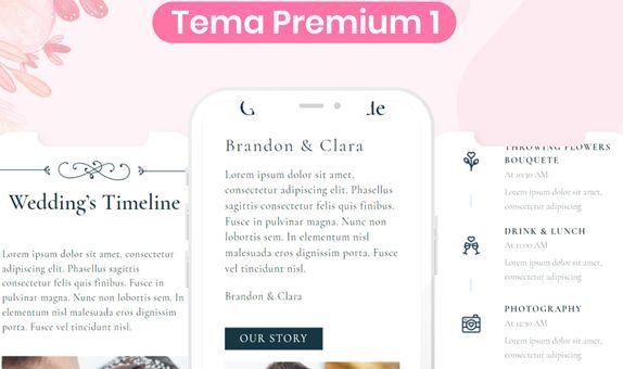 Undangan Pernikahan Digital Website (Romance)