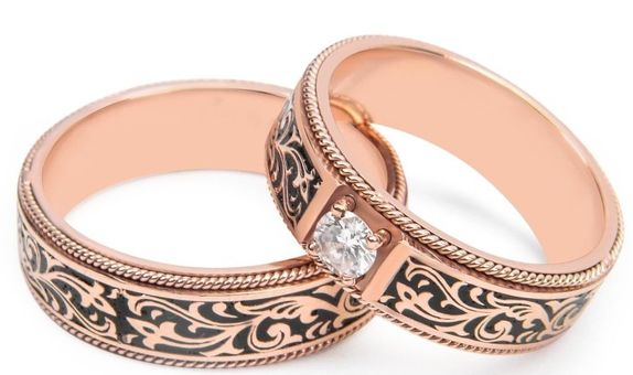 Cincin Kawin Batik Cincin Nikah Berlian WRB0002 V&Co Jewellery