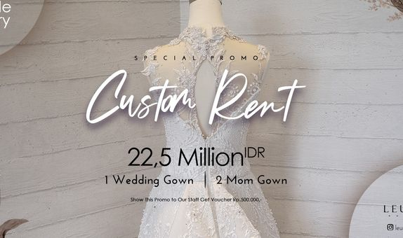 CUSTOME RENT WEDDING GOWN