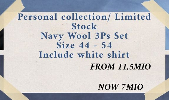 """""""FLASH SALE"""" Suit Package Navy Wool Suits 3Ps"""