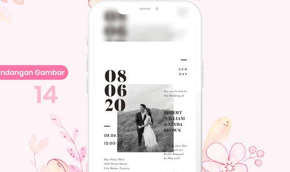 Undangan Pernikahan Digital (Gambar)