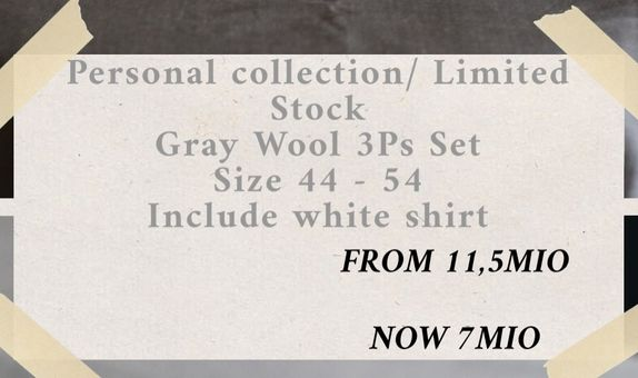 """""""FLASH SALE"""" Suit Package Light Gray Wool Suits 3Ps"""