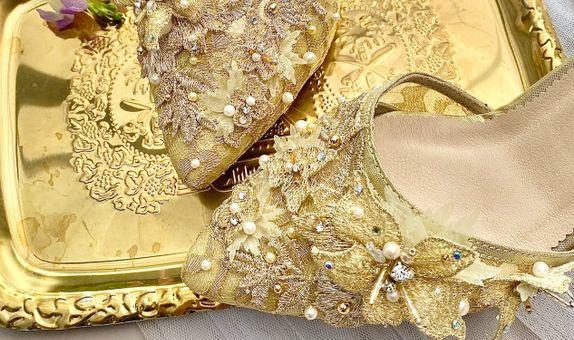 Norah Gold Party Shoes Women Stiletto Heels 7cm