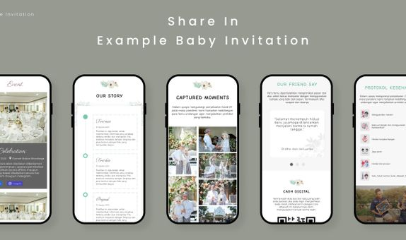 Wedding Invitaion for Baby Features