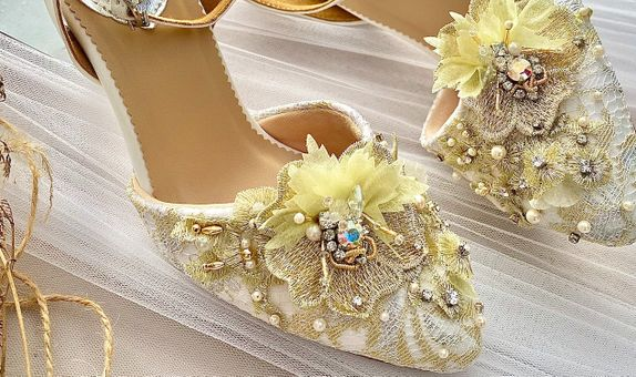 Rosalie Gold Stiletto Heels 8cm