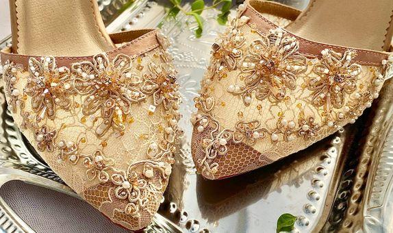 Mocha Glass Block Heels 7cm