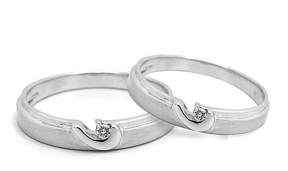 Cincin Nikah Cincin Kawin Emas Palladium WR0370 V&Co Jewellery