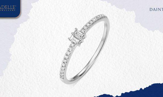 Cincin Berlian Adelle Jewellery - Brenda Diamond Ring