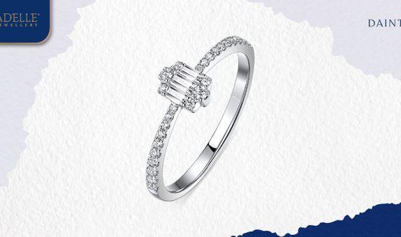 Cincin Berlian Adelle Jewellery - Kiara Diamond Ring - Baguette