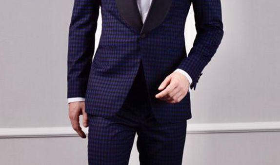 Plaid Blue Tuxedo | Tuxedo Biru Kotak-kotak
