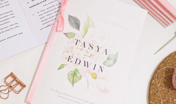 Design & Cetak Buku Misa Pernikahan