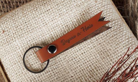 Gantungan Kunci Kulit Pita